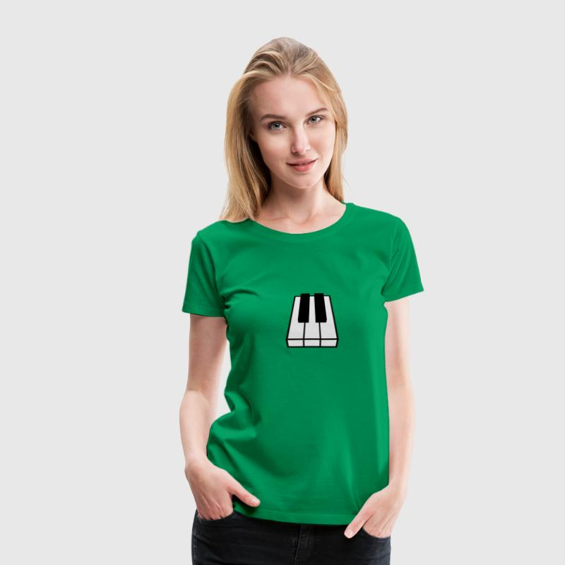 Perspective Piano Keys Design T-skjorter - Premium T-skjorte for kvinner