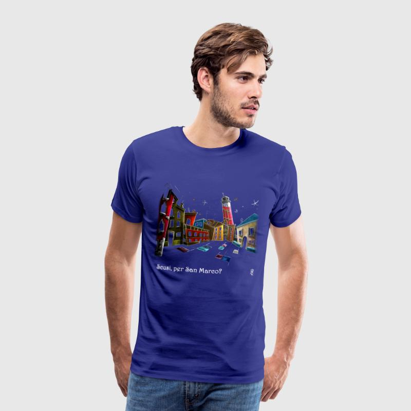 T-shirt Art Night Design - Venice Italy - Men's Premium T-Shirt