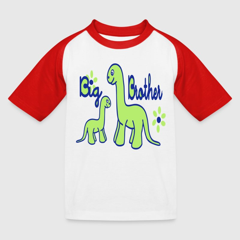Dino_big brother T-shirts - Baseball T-shirt til børn
