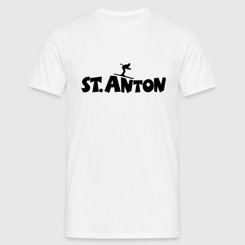 St. Anton Ski T-Shirt (Men/White) - Men's T-Shirt