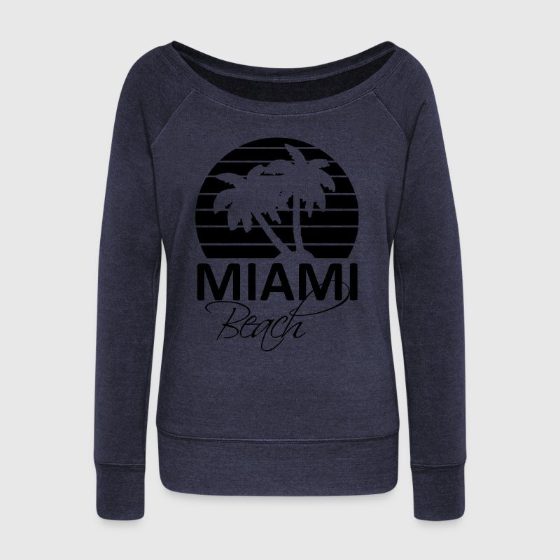 miami beach Sweat-shirts - Pull Femme col bateau de Bella