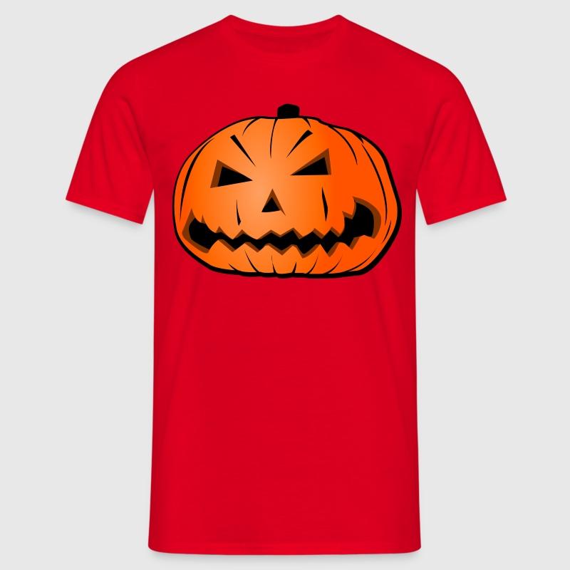 T shirt t te de citrouille halloween spreadshirt - Tete de citrouille ...