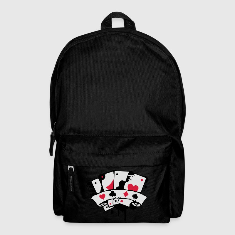 four playing cards and a banner Bags & backpacks - Backpack