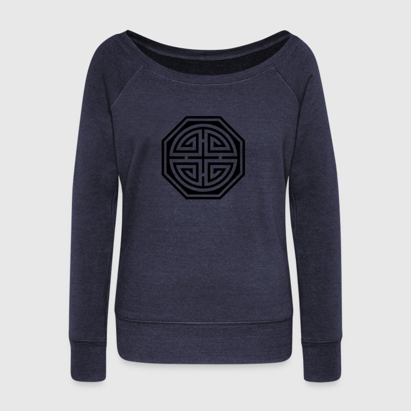 Four blessings, Chinese Good Luck, Martial Arts Sweaters - Vrouwen trui met U-hals van Bella