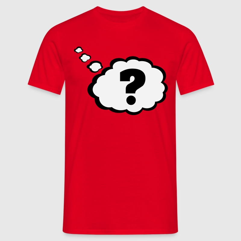 Question mark in Thought Bubble  T-Shirts - Men's T-Shirt