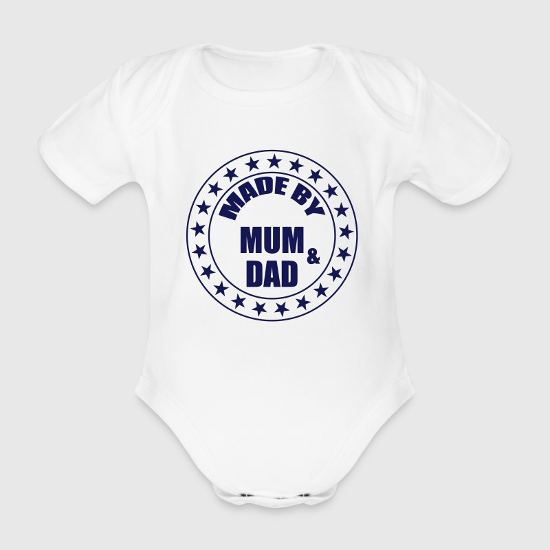 Made by Mum and Dad T-Shirts - Baby Bio-Kurzarm-Body