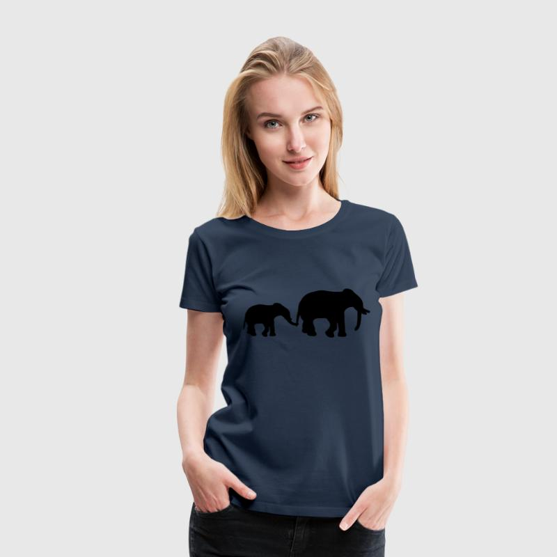 Elephant Mother T-shirts - Vrouwen Premium T-shirt