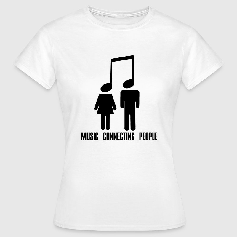 Music Connecting People Camisetas - Camiseta mujer