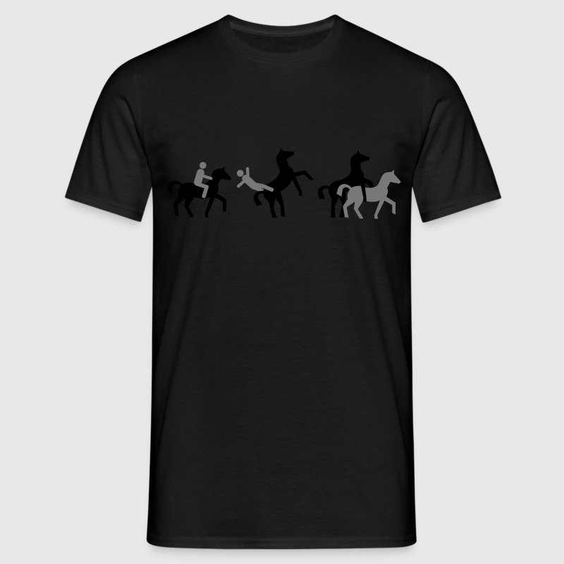 Paard Transport retro evolutie  T-shirts - Mannen T-shirt