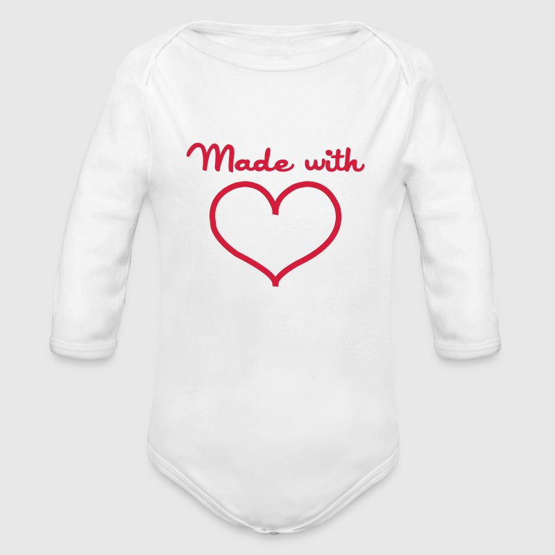 Made with love Felpe - Body ecologico per neonato a manica lunga