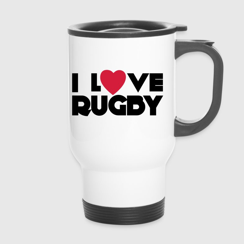 I Love Rugby Bouteilles et tasses - Mug thermos