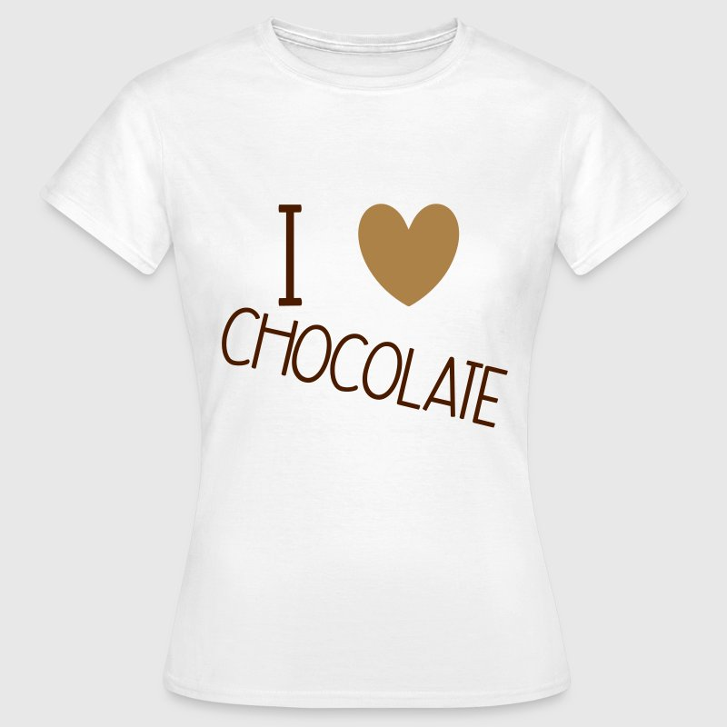 I Love Chocolate T-shirts - Vrouwen T-shirt
