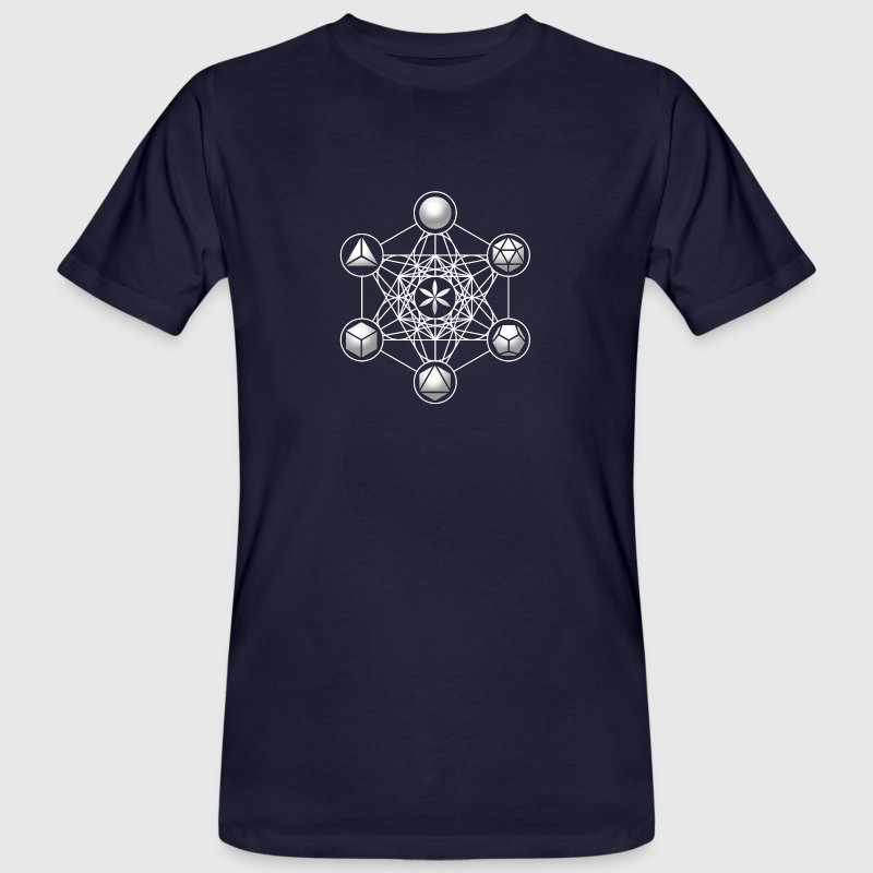 Metatrons Cube, Platonic Solids, Sacred Geometry T - Men's Organic T-shirt
