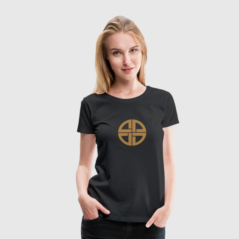 Shield knot, amulet, Germanic, protection, celtic, T-Shirts - Women's Premium T-Shirt