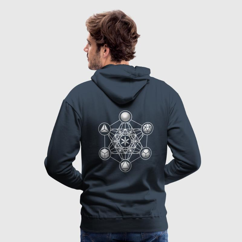 Metatrons Cube, Platonic Solids, Sacred Geometry Hoodies & Sweatshirts - Men's Premium Hoodie