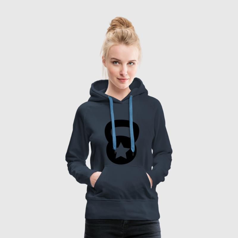 kettlebell without star Hoodies & Sweatshirts - Women's Premium Hoodie