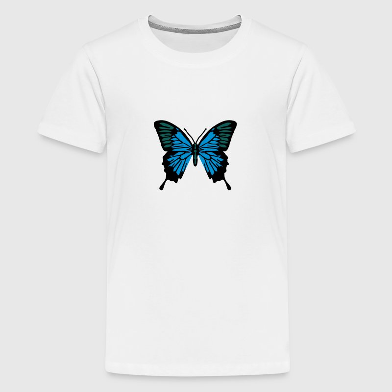 Schmetterling 3 farben T-Shirts - Teenager Premium T-Shirt