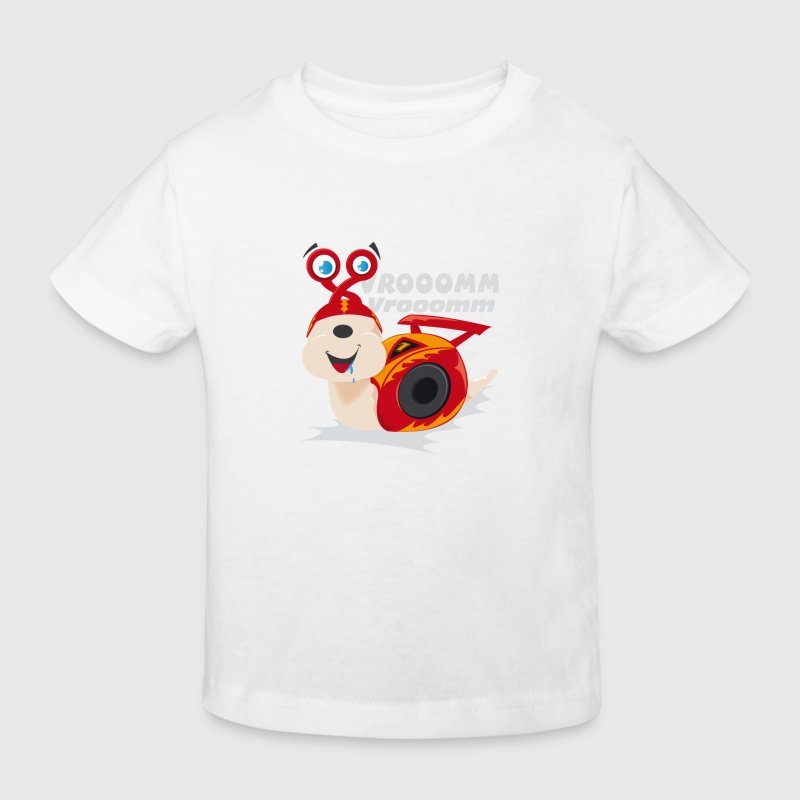 t shirt enfant escargot de course - T-shirt Bio Enfant