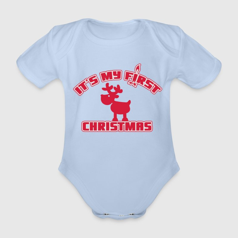 It's my first Christmas T-Shirts - Baby Bio-Kurzarm-Body