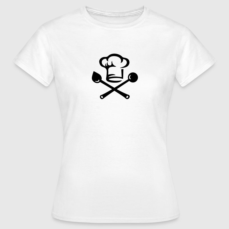 Chef hat cutlery, cooking, Cook, Restaurant, Hotel Camisetas - Camiseta mujer