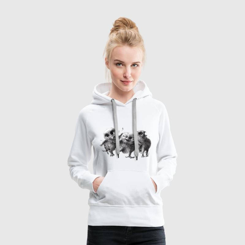 three crazy owls - Women's Premium Hoodie