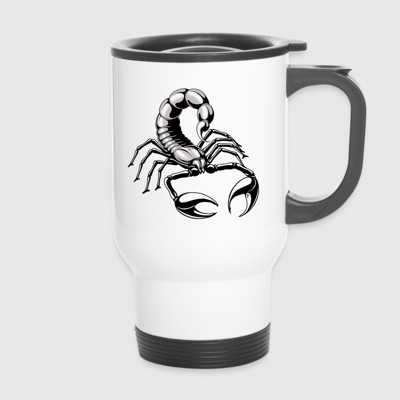 Scorpion - silver - grey - Travel Mug