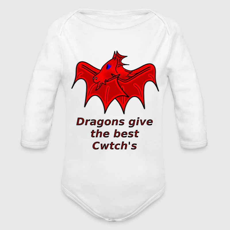 wales dragons give the best welsh cwtch's - Longsleeve Baby Bodysuit