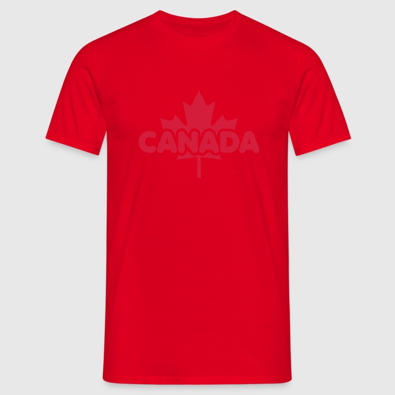 CANADA Maple Leaf Flag Design T-Shirt WR - Mannen T-shirt