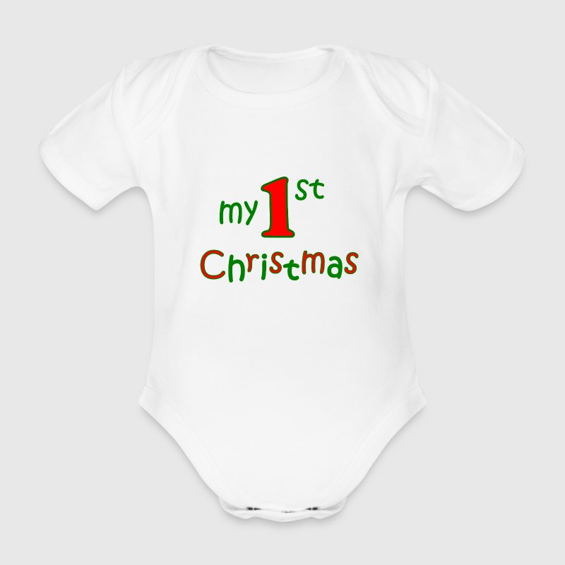 my first christmas T-Shirts - Baby Bio-Kurzarm-Body