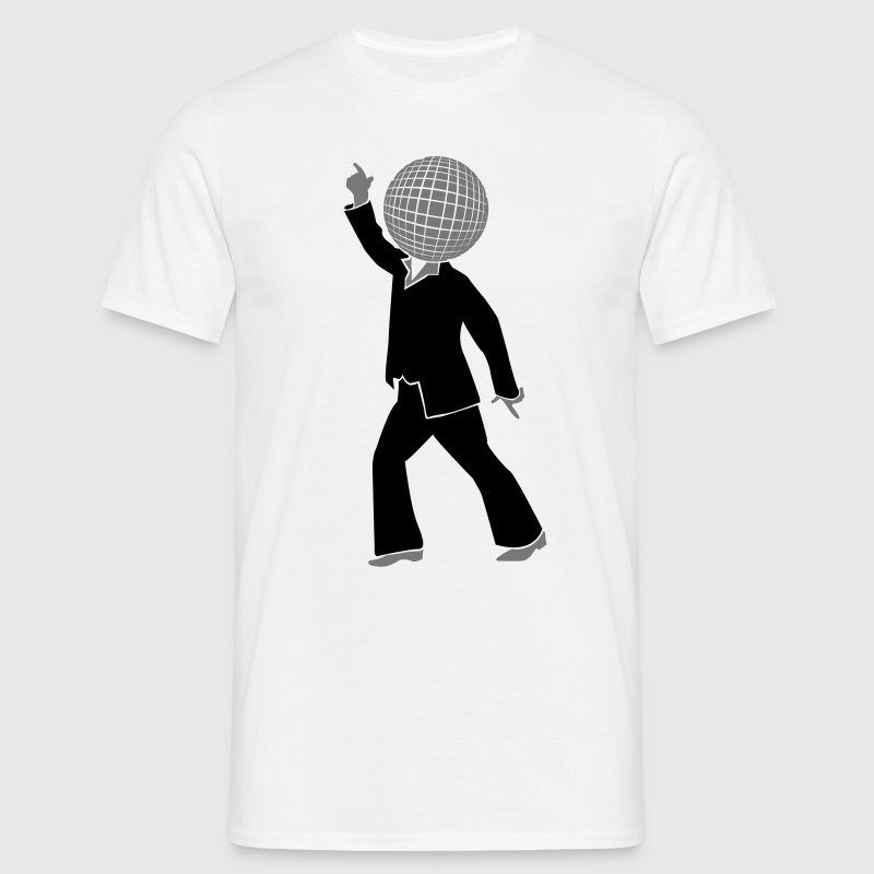 Dancer with disco ball as the head 2  T-Shirts - Men's T-Shirt