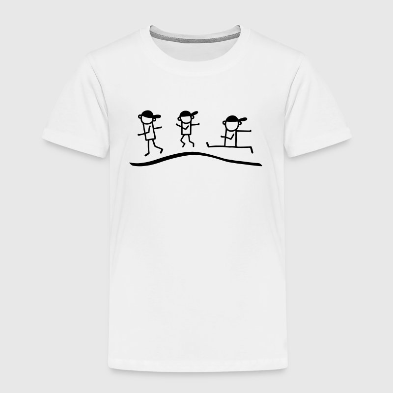 3 jog stick figure - jogging Shirts - Kids' Premium T-Shirt