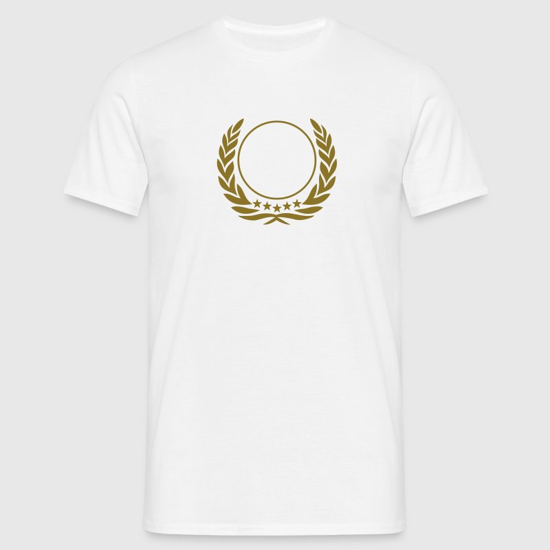 Laurel wreath, 5 stars, Award, Best, hero, winner  Camisetas - Camiseta hombre
