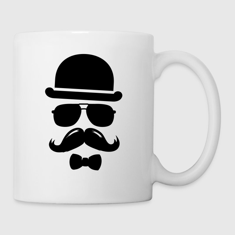 Cool  swag hipster moustache boss man father Bottles & Mugs - Mug