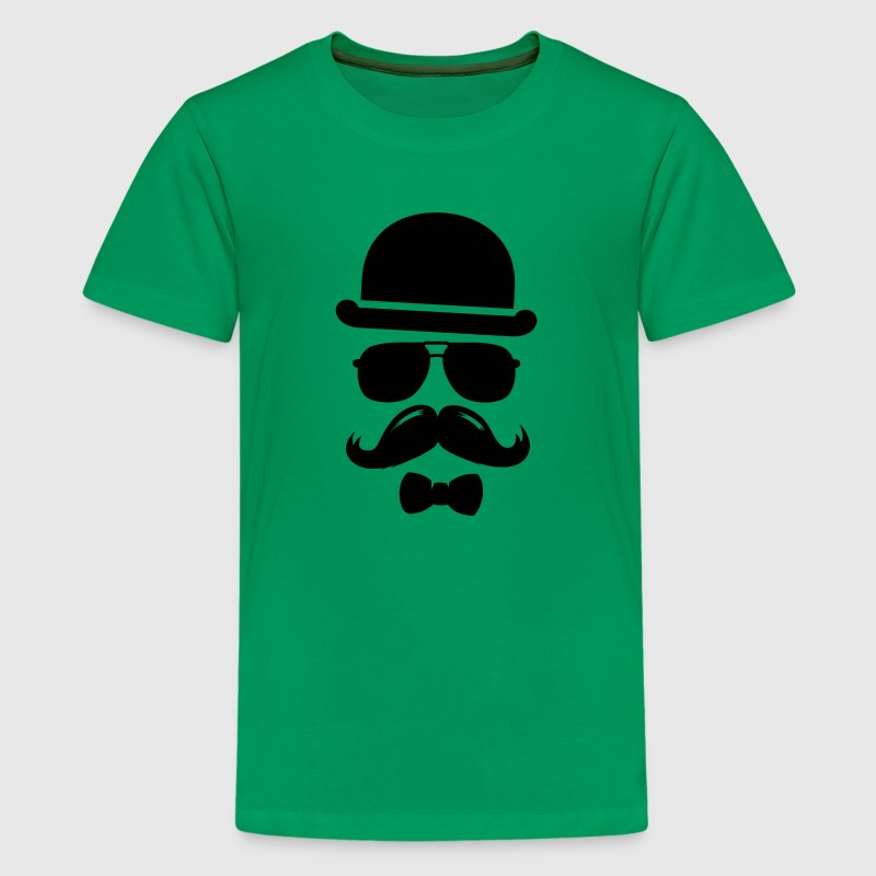 Cool  swag hipster moustache boss man father Tee shirts - T-shirt Premium Ado