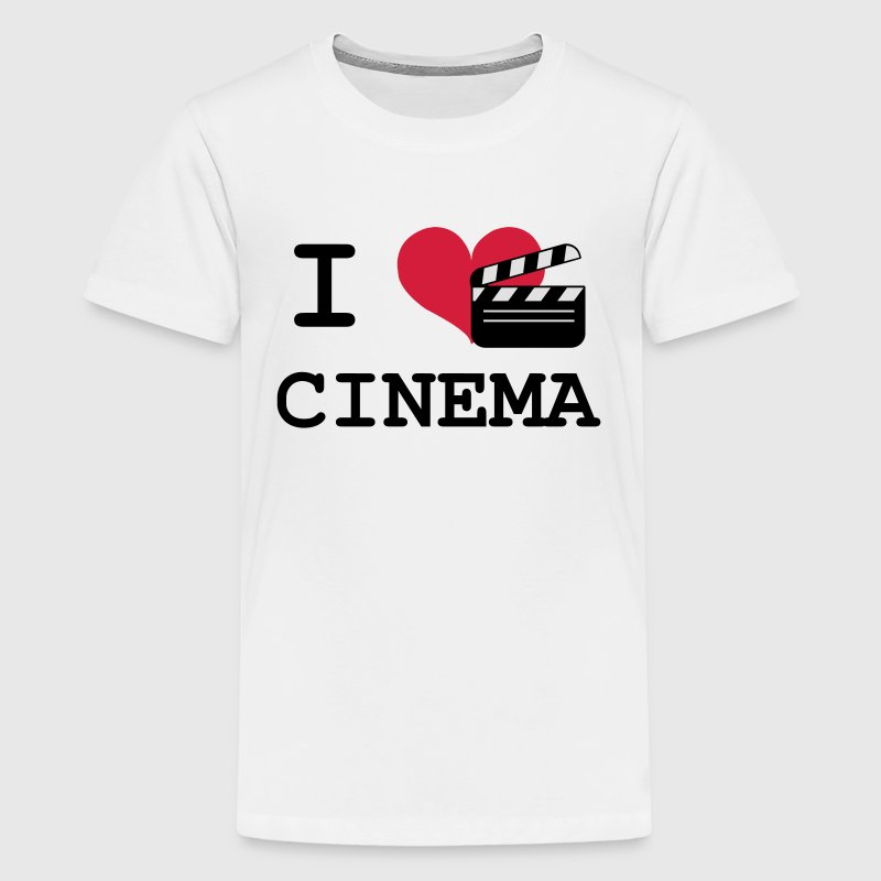 I Love Cinema Shirts - Teenage Premium T-Shirt
