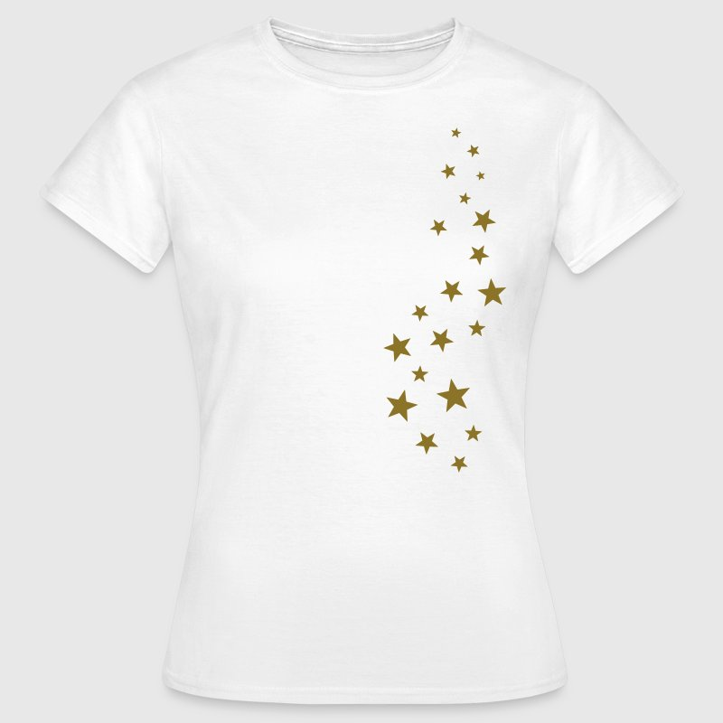 Gold stars, Christmas, fairy dust, magic, fantasy T-shirts - Vrouwen T-shirt