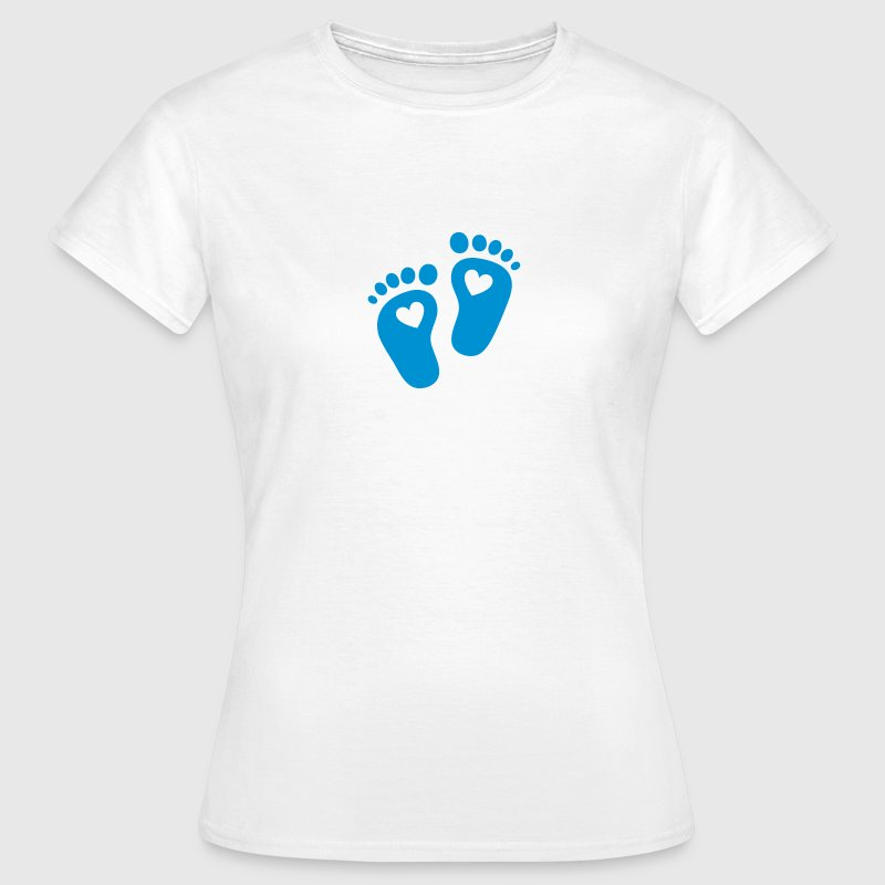 Baby feet, heart, birth, gift, mom, pregnancy T-Shirts - Women's T-Shirt