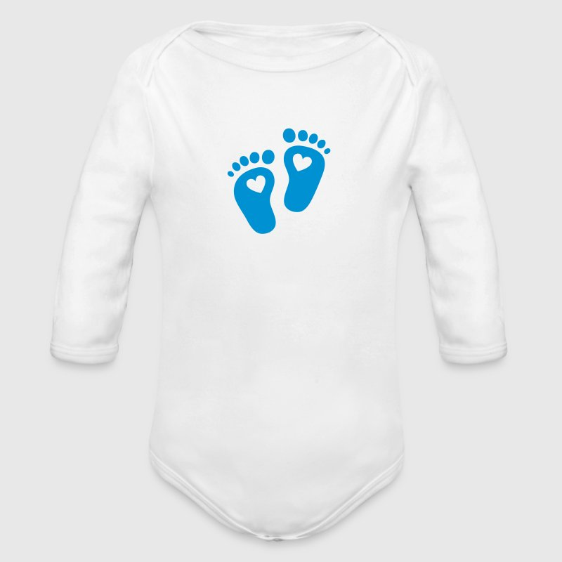 Baby feet, heart, birth, gift, mom, pregnancy Felpe - Body ecologico per neonato a manica lunga
