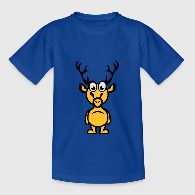cerf rigolo personnage cartoon deer 1110 Tee shirts - T-shirt Enfant