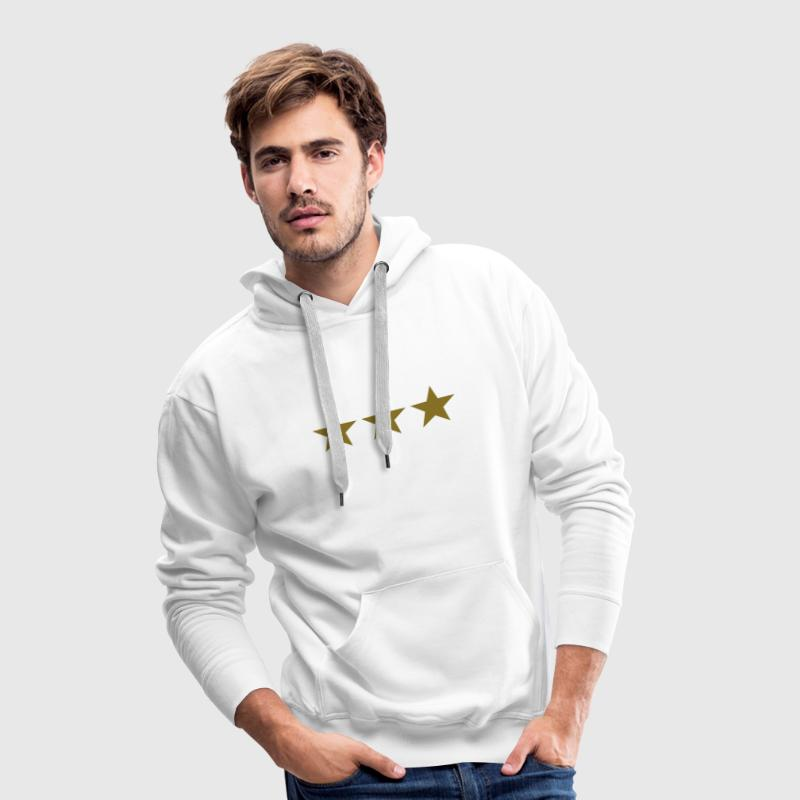 3 stars, gold, Birthday, Gift, winner, three, best Sweatshirts - Herre Premium hættetrøje