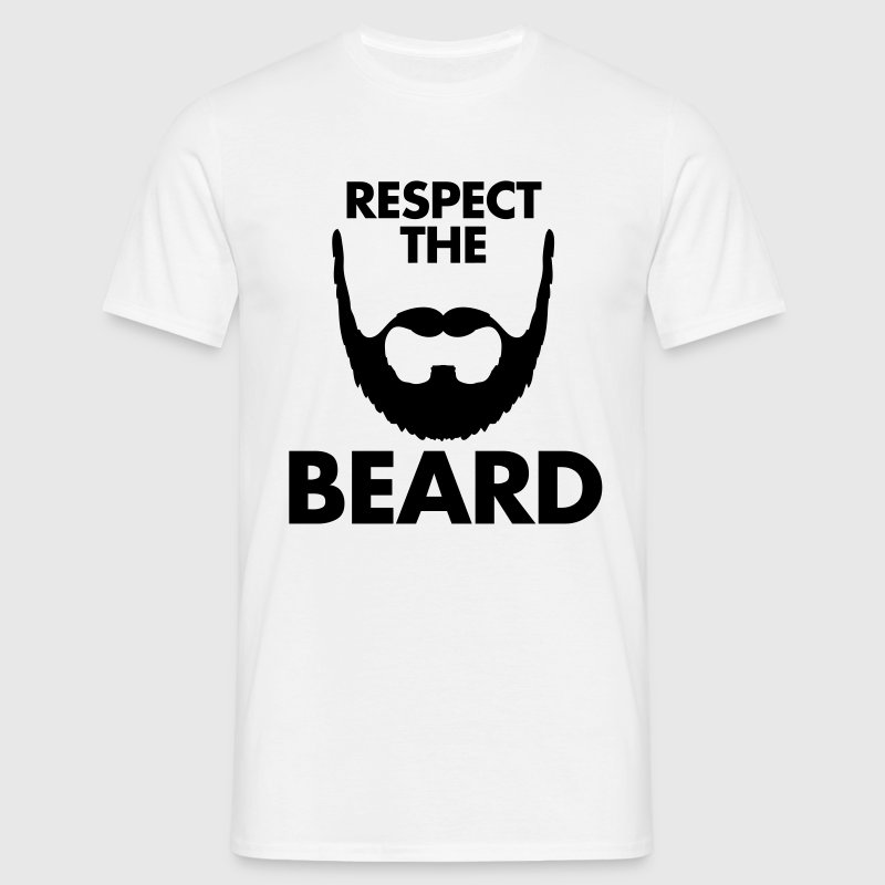 Respect The Beard T-shirts - T-shirt herr
