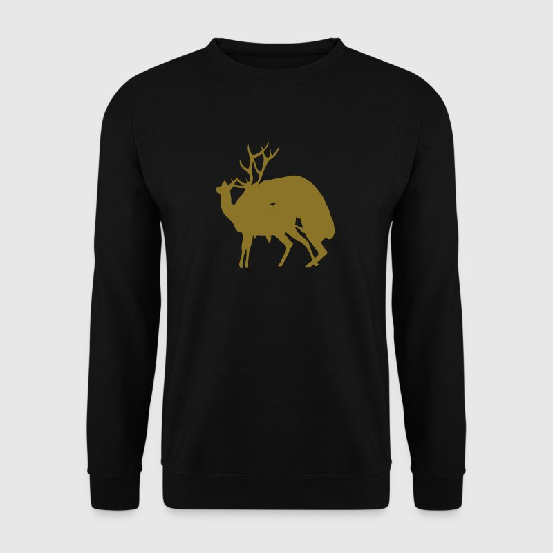 fucking deer reindeer 1 - Men's Sweatshirt