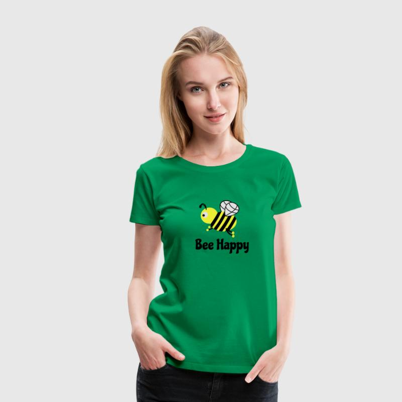 bee happy cute bee T-Shirts - Women's Premium T-Shirt