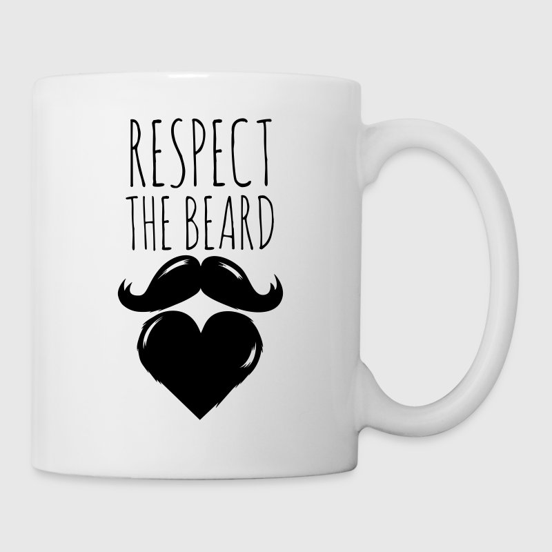 funny I love respect the beard and moustache joke Flessen & bekers - Mok