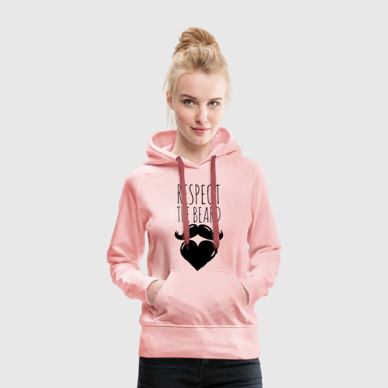 drôle i love amour barbe barbiche moustache bouc Sweat-shirts - Sweat-shirt à capuche Premium pour femmes