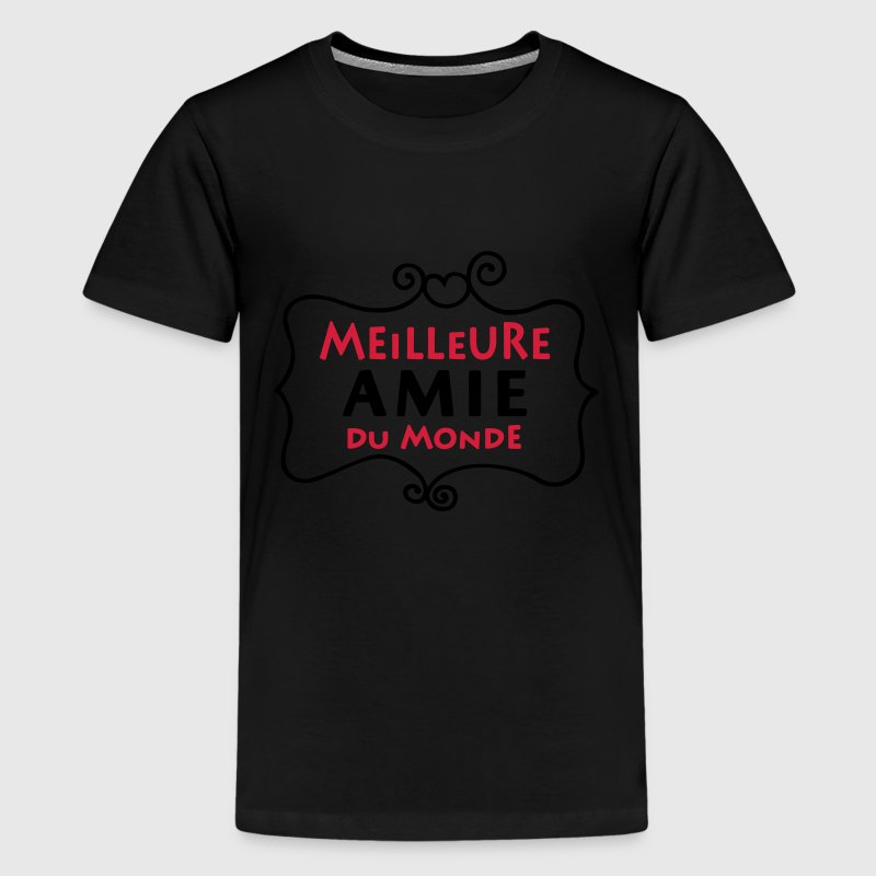 tee shirt meilleure amie du monde 2c spreadshirt. Black Bedroom Furniture Sets. Home Design Ideas