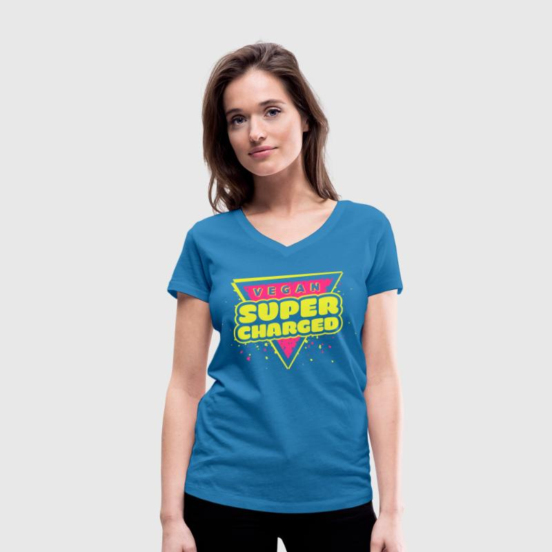 The Hero: Vegan Super Charged T-shirt - Women's Organic V-Neck T-Shirt by Stanley & Stella