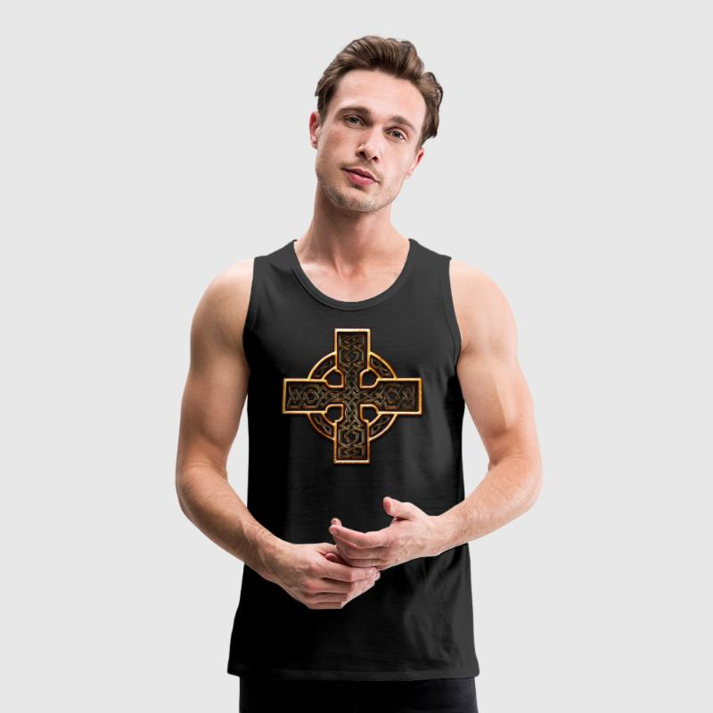 Old Gold Celtic Cross Twisted.png Tee shirts - Débardeur Premium Homme