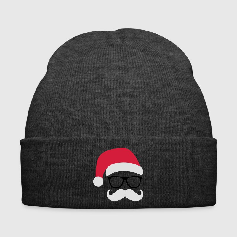 Funny Santa Claus with nerd glasses and mustache Caps & Hats - Winter Hat