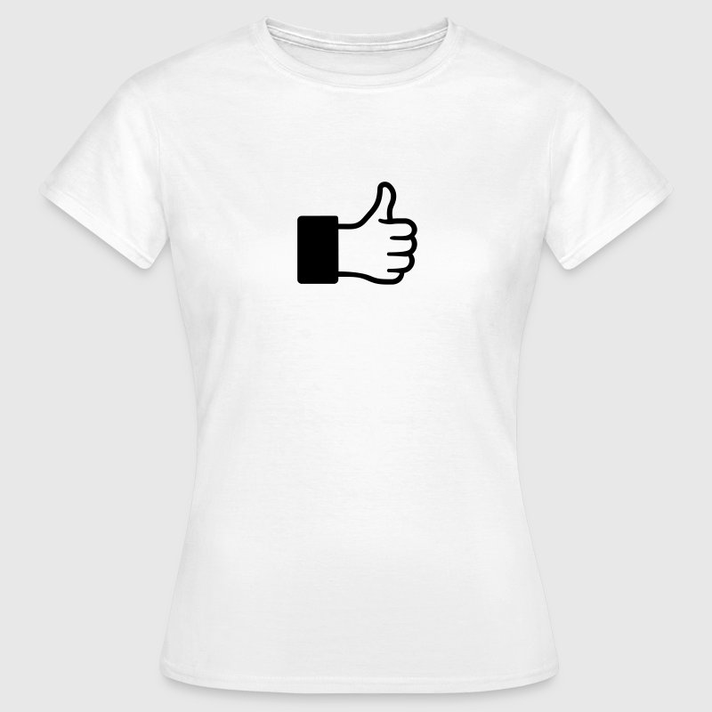 J'aime, thumps up, pouce, levé, main, accord,  Tee shirts - T-shirt Femme